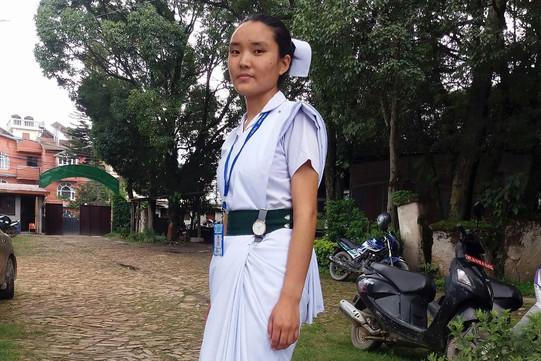 Karsang Chime Krankenschwester-Studium