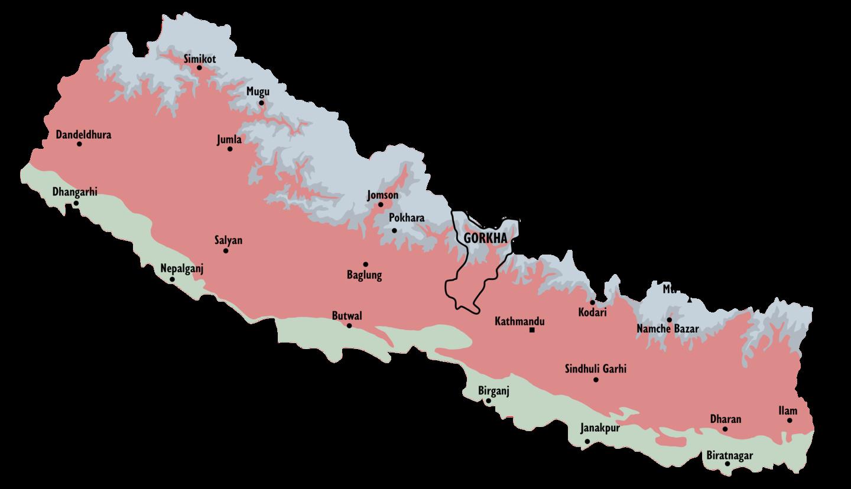 Nepal, Region Ghorka